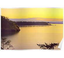 Sunset Over Widbey Island Poster