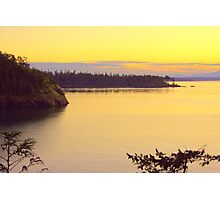 Sunset Over Widbey Island Photographic Print