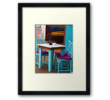 Table d aute. f Framed Print