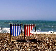 Brighton Beach, UK - Deck Chairs by TiarasTeddies