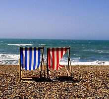 Brighton Beach, UK - Deck Chairs by TiarasTeddies