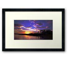 Wakiki Beach at dawn Framed Print