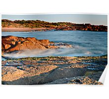 Anna Bay Sunset on the Rocks Poster