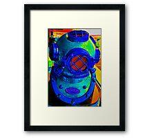 Loud Helmet Framed Print