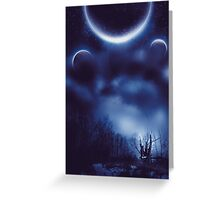 Fantastic Landscape With Planets Greeting Card
