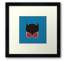 Cat Woman Goggles Framed Print