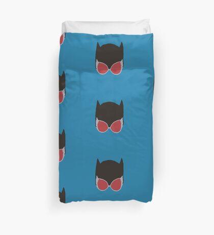 Cat Woman Goggles Duvet Cover
