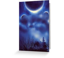 Fantastic Landscape With Planets 2 Greeting Card