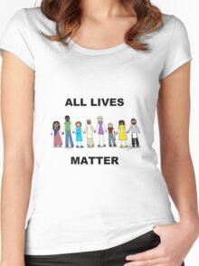 All Lives Matter Women's Fitted Scoop T-Shirt