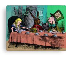 Alice In Wonderland Collides Canvas Print