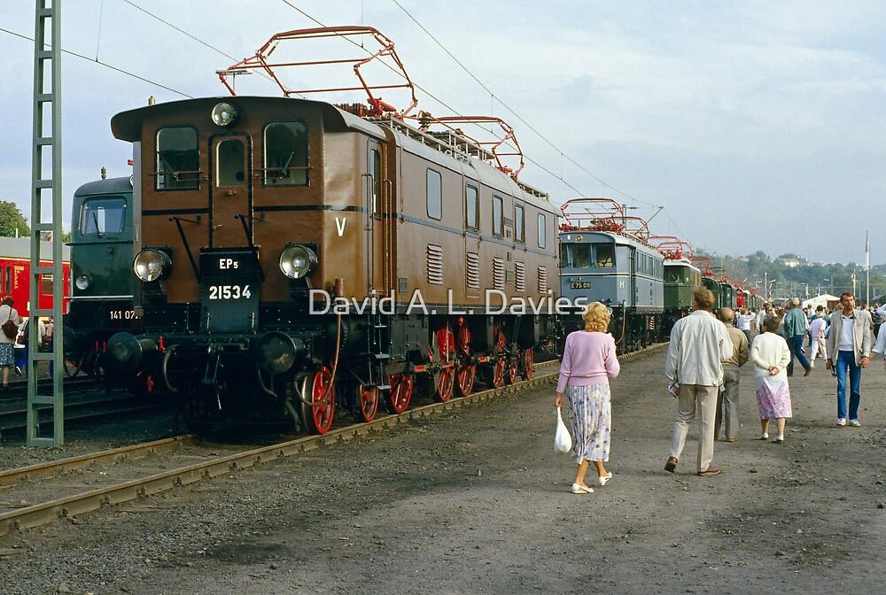 Locomotive display, Bochum, Germany, 1985. by David A. L. Davies