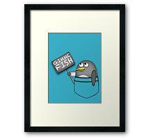 Pocket penguin wants fish Framed Print