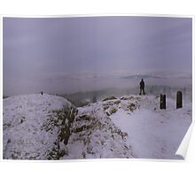 The Lake District: Winter on Post Knott Poster