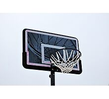 Basketball hoops. Photographic Print