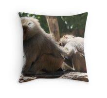 Baboon  Throw Pillow