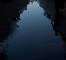 Reflection of a Pagoda by Rene Fuller