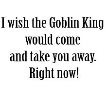 Labyrinth Goblin king Photographic Print