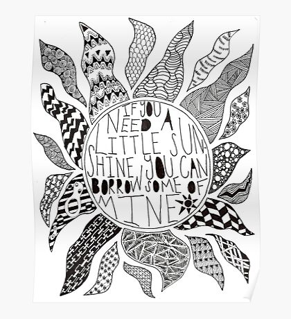 TFB Sunshine Zentangle Poster