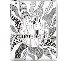 TFB Sunshine Zentangle iPad Case/Skin