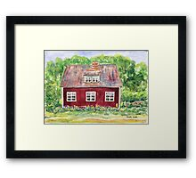 Swedish Cottage Framed Print