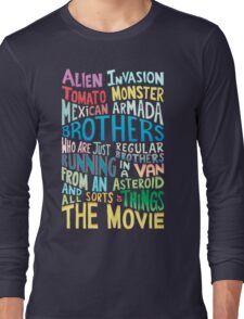 Rick and Morty Two Brothers Handlettered Quote Long Sleeve T-Shirt