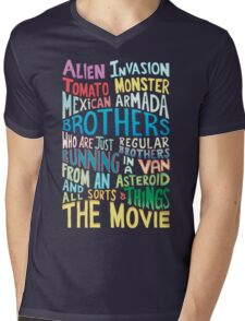 Rick and Morty Two Brothers Handlettered Quote Mens V-Neck T-Shirt