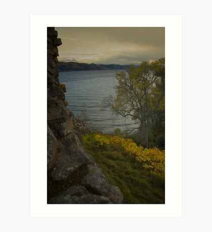 Urquhart Castle - Autumn, Dusk Art Print