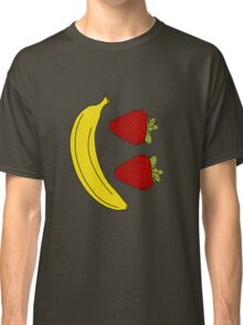 Fruit Smiley, Banana and Strawberry. Classic T-Shirt