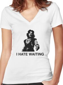 I Hate Waiting Women's Fitted V-Neck T-Shirt