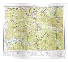 USGS Topo Map Washington Hoquiam 239710 1958 250000 Poster