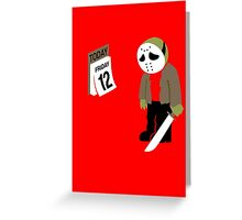 Friday The 13th Parody Greeting Card