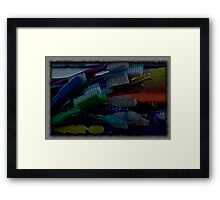 the artist brush Framed Print