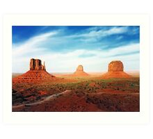 West Mitten East Mitten and Merrick Butte Art Print