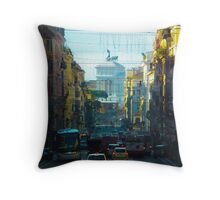 Busy Roman Road Throw Pillow