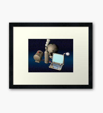 Steam punk computer Framed Print