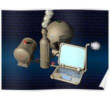 Steam punk computer Poster