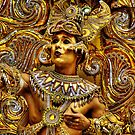 Notting Hill Carnival, Gold Man by Guy Carpenter