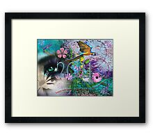A bright happy cheerful 2011 Framed Print