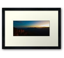 101229 Blue Mountains Three Sisters Sunset Panorama Framed Print