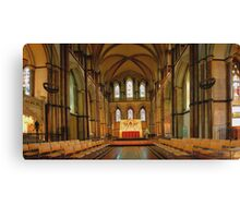 Rochester Cathedral Sanctuary - HDR Canvas Print