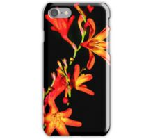Orange on Black iPhone Case/Skin