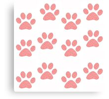 Pink Paws Canvas Print