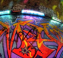 Graffiti, orange and purple by Guy Carpenter