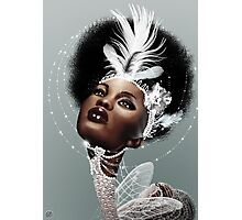 Lady White Photographic Print