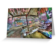 Graffiti and reflection Greeting Card