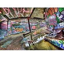 Graffiti and reflection Photographic Print