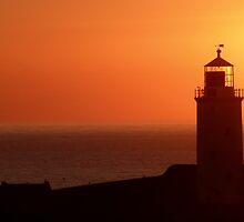 Godrevy Lighthouse Sunset by kernowseb