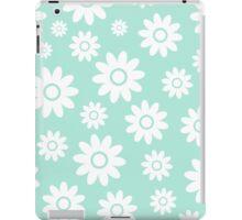 Mint Fun daisy style flower pattern iPad Case/Skin