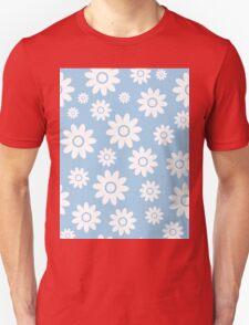 Light Blue Fun daisy style flower pattern Unisex T-Shirt