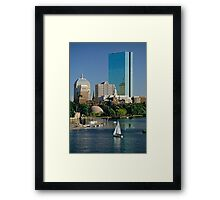 Boston & The Hancock, USA, 1993. Framed Print